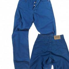 Pantaloni barbati - talie inalta - LOTUS jeans W 31 (Art.154), Culoare: Albastru