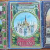 3 mape cu 96 ilustrate interbelice, Milano, Roma, Trieste, Necirculata, Printata, Europa