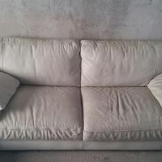Fotoliu+canapea 3 locuri+sezlong stanga, model Lucia, fabricatie Mobexpert, Canapea in stil contemporan, Canapele fixe, Din piele ecologica