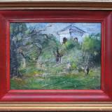 Casa in peisaj - semnat L.Hayet - Pictor strain, Peisaje, Ulei, Altul
