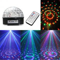 Glob disco lumini cu Telecomanda - Laser lumini club
