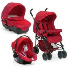 Carut landou chicco, rosu - Carucior copii 3 in 1 Chicco, 1-3 ani, Pliabil, Maner reversibil