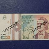 SPECIMEN UNC 1000 lei 1991 !!!!!!! - EXTREM DE RAR!!!