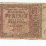 LL bancnota Croatia 50 kuna 1941 - bancnota europa, An: 1941