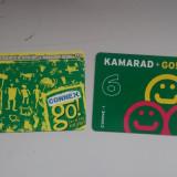 Lot 2 cartele colectie - reincarcare Kamarad Connex Go - Cartela telefonica romaneasca