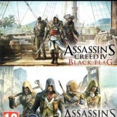 Jocuri Xbox One - Assassins Creed Unity And Black Flag (Code) Xbox One