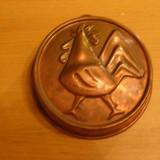 Metal/Fonta - Forma, tava de copt din arama masiva, pt. prajituri, 14, 5cm, adusa din Germania