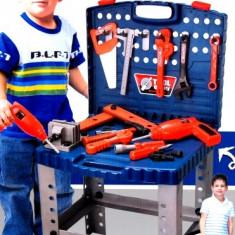 Scule si unelte - Banc de scule copii cu bormasina electrica de jucarie