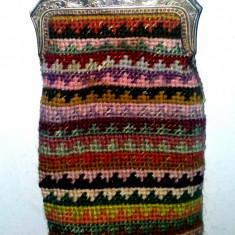 Portmoneu vintage din material tesut pentru maruntis (2) - Portofel Dama, Culoare: Din imagine, Pentru monezi