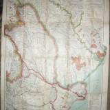 Harta Militara mare Basarabia ,Moldova ,Dobrogea 1917