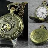 Ceas de buzunar, de epoca, vechi, suvenir, de bronz, cuart, United States