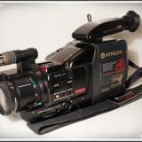 APARAT DE FILMAT VINTAGE DIN ANII 1990 - HITACHI VM-C52E, CAMERĂ VIDEO VECHE!