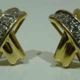 Cercei aur 14k cu diamante 0, 35ct - Cercei cu diamante