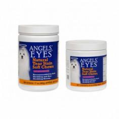 Caine - Angels'Eyes 240 pastile masticabile moi pt eliminare pete lacrimi caini si pisici cu blana alba bichon maltese, bolognese frise, westie, shih tzu