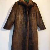 Blana nou nutrie lunga - Palton dama, Marime: 42, Culoare: Maro