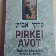 Pirkei Avot - Sfaturile Inteleptilor poporului evreu - Carti Iudaism