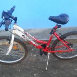 Bicicleta Dama, 20 inch, 22 inch, Numar viteze: 18, Otel, Gri-Rosu - Vand biciclete