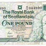 Scotia bancnota Royal Bank of Scotland ONE POUND 1990