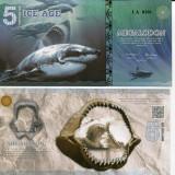 EPOCA DE GHEATA(ICE AGE)- 5 ICE DOLLARS 2015- UNC!! - bancnota america