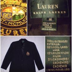 Sacou RALPH LAUREN barbati : 80% lana - clasic - Sacou barbati, Marime: M, Culoare: Negru