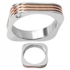 Inel inox - Inel Geometric de Inox (Otel Inoxidabil) RS-636
