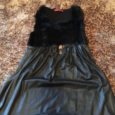 Rochie GUCCI - Rochie de zi Gucci, Marime: M, Culoare: Negru, Scurta, Fara maneca