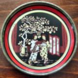 Farfuriuta veche decorativa din tabla cu model chinezesc - Super Pret - Metal/Fonta, Ornamentale