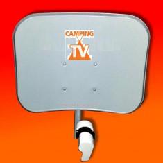 Sistem complet satelit - Camping tv -antena satelit pentru focus sat sau freesat pe12 volti