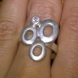 inel argint 925 model frumos decorat cu zirconiu stralucitor!