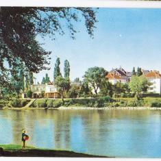 Carte postala circulata 1962 RPR Arad malul Muresului - Carte Postala Transilvania dupa 1918