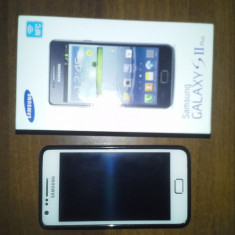 Vand Samsung Galaxy S II Plus STARE IMPECABILA - Telefon mobil Samsung Galaxy S2 Plus, Alb, Neblocat
