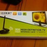 Adaptor wireless 300Mbps USB WIFI Adapter Realtek 1073/1283 HDTV placa de retea wireless 300Mbps USB WIFI placa retea. MOTTO: CALITATE NU CANTITATE!