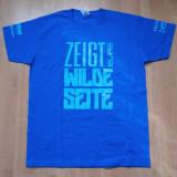 Tricou oficial de la lansare joc WILDSTAR, nou, - Tricou barbati, Marime: L, Culoare: Albastru, L, Maneca scurta, Albastru