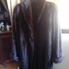 Haina de blana de vizon - Palton dama, Marime: L/XL, Culoare: Moka, Moka, L/XL