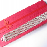 Bratara Fashion - Bratara cristale rafinate albe N001