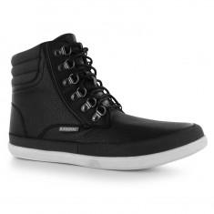 Ghete barbati - Adidasi / Ghete originale Kangol D Ring Boots Mens Black
