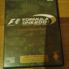 JOC PS2 FORMULA ONE 2001 LIMITED EDITION PACK ORIGINAL PAL / raritate pentru colectionari / STOC REAL in Bucuresti / by DARK WADDER - Jocuri PS2 Sony, Curse auto-moto, 3+, Multiplayer