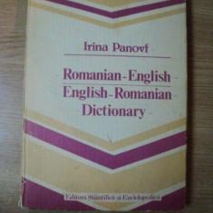 DICTIONARY ROMANIAN - ENGLISH / ENGLISH - ROMANIAN de IRINA PANOVF, 1986