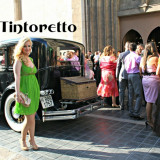 Tintoretto SPANIA, Rochie 100 % MATASE, model superb, material VOAL. Marimea 42 (merge 40/42). Produse NOI Originale cu Etichete. REDUSE! OUTLET Arad.