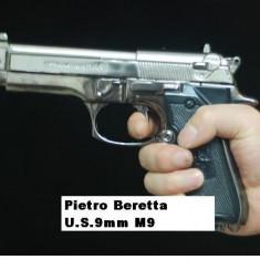 Eticheta/Sticla/Cana de colectie - BRICHETA PISTOL Pietro BERETTA U.S.9mm M9. Replica 1:1 Arma Full METAL. SIGILAT