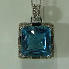 Colier aur 14k cu Topaz si diamante