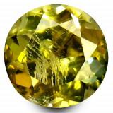 * Piatra naturala Tanzanit (Zoisit) galben rotund - netratat 1, 07 ct - certificat