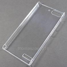 Husa rigida transparenta Huawei Ascend G6 + folie protectie ecran - Husa Telefon Huawei, Negru, Cu clapeta, Toc