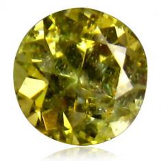 Bijuterie Pietre pretioase - * Piatra naturala Tanzanit (Zoisit) galben-maro rotund - netratat 1, 4 ct - certificat