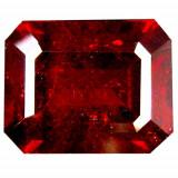 Bijuterie Pietre pretioase - * Piatra naturala Granat Spessartin rosu - portocaliu - octagon cut - 4.38 ct - certificat
