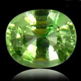 * Piatra naturala Granat TSAVORIT verde - oval cut - 1, 29 ct - certificat