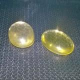 Bijuterie Pietre pretioase - Pereche 2 bucati citrin lemon 100% naturale oval cut caboson din Brazilia ptr montura cercei argint, aur!!