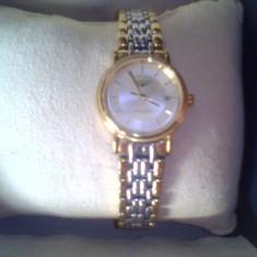 Ceas dama, Elegant, Mecanic-Automatic, Placat cu aur, Placat cu aur, Nou - Ceas de damă Longines model 42112 original