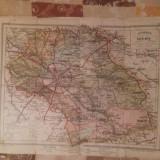 HARTA INTERBELICA 1925- JUDETUL ILFOV.