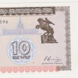 bancnota asia - ARMENIA 10 dram 1993 UNC